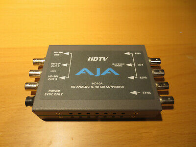 AJA Video HD10A HD Analog to HD-SDI Converter, No PSU