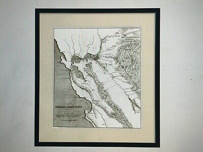 Framed Prints-Historic Map for California Mining Districts in 1848 and 1849
