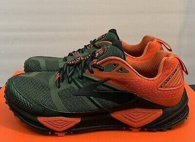 7760f9a6869 Brooks Cascadia 12 Green Orange Men s Size 8.5 D Hiking Trail Running Shoes