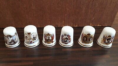 Thimbles Set of 6 Kings and Queens