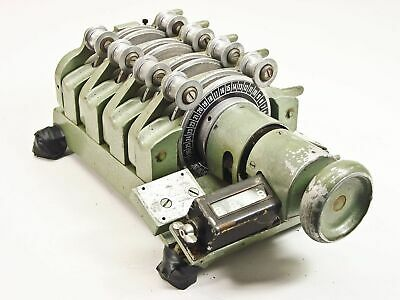 Moviola SZD 4-Gang 16mm Film Synchronizer - Rotates Rough - As Is / For Parts