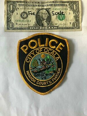 Vintage Ocala Florida Police Patch Un-sewn (Marion County) in great shape