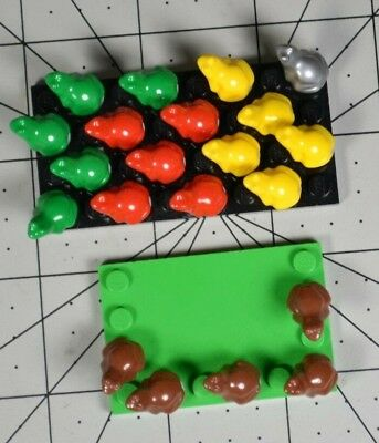 Lego Bulk Lot Of Frogs X8 red,yellow,brown,green X2 Of Each Color