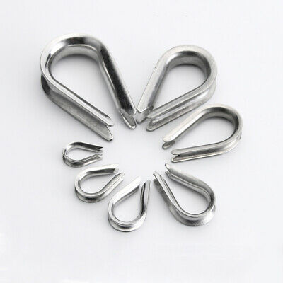 Thimble Wire Rope Clamp Grips 304 Stainless Steel 2mm 3mm 4mm 5mm 6mm 8mm 10mm