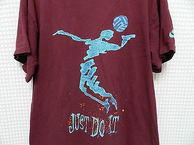 547cdd05bc3c3 VTG NIKE VOLLEYBALL T Shirt 80s 90s Gray tag L/XL Just Do it retro ...