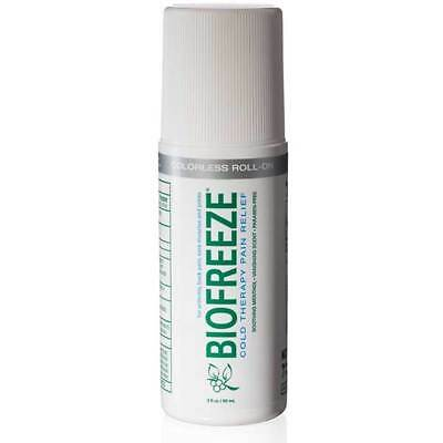 BRAND NEW Biofreeze Colorless 3 oz Roll-On with ilex (FREE SHIPPING)