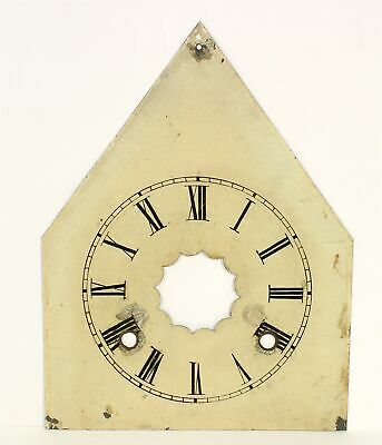 Antique Painted Metal Steeple Shaped Clock Dial- Mc35