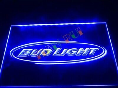 Bud Light budweiser LED Neon Bar Sign Home Light up movie Pub Beer Lager mancave