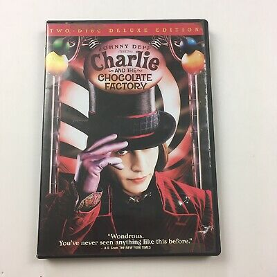 Johnny Depp Charlie And The Chocolate Factory DVD Two Disc Deluxe Edititon