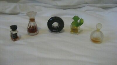 Miniature Perfume Bottles - Mostly Glass - Varing Amounts of Contents - Lot 7