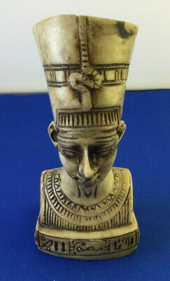 Egyptian Queen Nefertiti Pharaoh Wife Stone Statue Made in Egypt