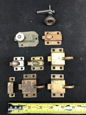 ANTIQUE BRASS ARTS & CRAFT VICTORIAN CABINET or CUPBOARD DOOR LATCHES