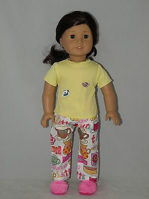 "Tea time pajamas fits  18 "" dolls and american girl dolls"