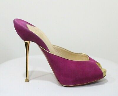 ec41a1c3e276 CHRISTIAN LOUBOUTIN PINK Suede Decoltish Pointed Toe Pumps Size 37 ...