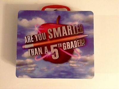 Are You Smarter Than A 5th Grader   Lunchbox Tin   Cardinal   2007  Sealed Cards