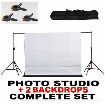 10FT Adjustable Photography Background Support Stand Kit With Case LK