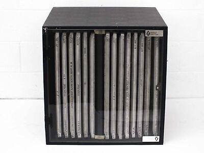 Aerofeed Screen Storage Cabinet with Aluminium Silk Screen Frames 25 Inch