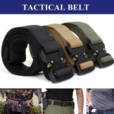 Military Style Tactical Canvas Belt Nylon Men Army Metal Buckle Multi-functional