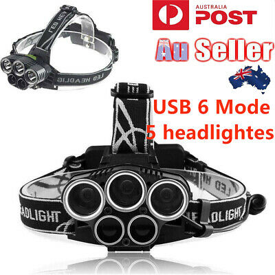 50000LM XM-LT6 LED Rechargeable Headlamp  Headlight Work Light+ Car Charger