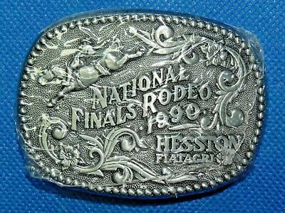 1990 HESSTON Fiatagri Belt Buckle National Finals Rodeo NFR New in Package