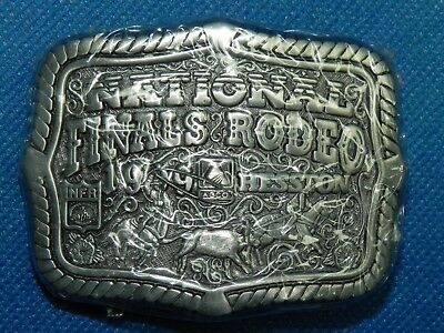 1999 HESSTON Belt Buckle National Finals Rodeo New in Package
