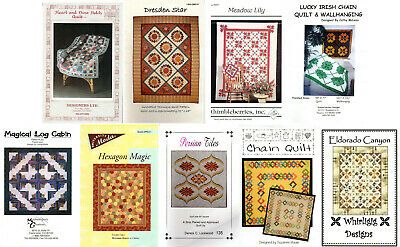 CHOICE: QUILTING Quilt Making Patterns or Instruction Packs