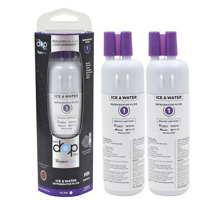 2 Pack EDR1RXD1 Whirlpool W10295370A Every Drop Refrigerator Water Filter 1