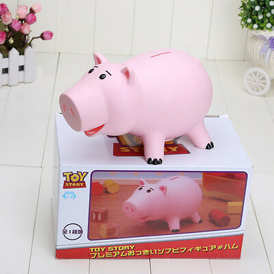 20CM Toy Story Hamm Piggy Bank Pink Pig Coin Box PVC Model Toys With Box