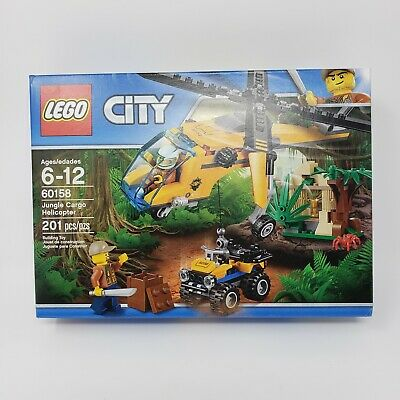 LEGO City Jungle Cargo Helicopter Explorers 60158 Building Kit 201 Piece New