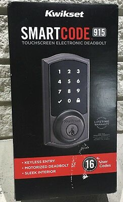 KWIKSET SMARTCODE 916 Touchscreen Electronic Deadbolt with Z