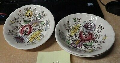 """ANTIQUE Johnson Brothers Sheraton CHINA LOT OF 3 BERRY BOWLS 5 1/8"""""""