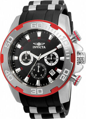 Invicta Men's Pro Diver Chrono 100m Stainless Steel/Black Silicone Watch 22307