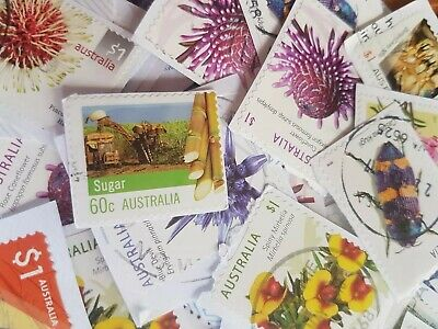 500 Used Australian High Value Only Kiloware Stamps Bulk Fast Post (50c-$1)