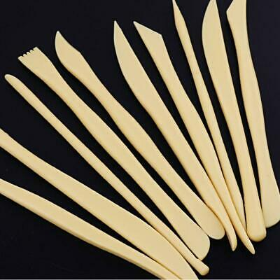 10pcs Wood Wooden Clay Sculpting Tool Set Pottery Carving Ceramic Modelling