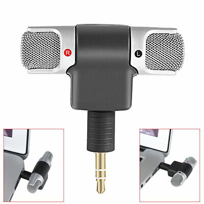 Digital Portable Mini Stereo Voice Mic Microphone Recorder For PC Laptop MD VOIP