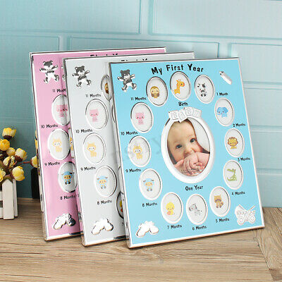 DIY Baby My First Year Photo Frame Newborn 12 Months Picture Standing Frame Gift