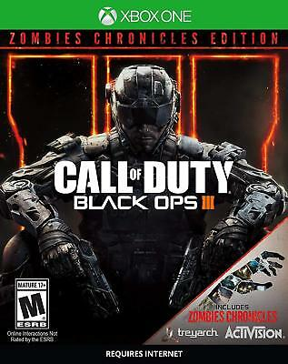 """""""NEW"""" Call of Duty: Black Ops 3 III Zombie Chronicles Edition (Xbox One, 2017)"""