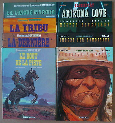GIRAUD / CHARLIER  ***  BLUEBERRY TOMES 19 à 26  ***  EO TBE