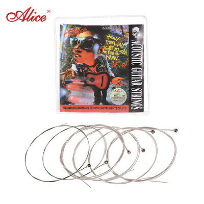 Alice A306 Series Acoustic Folk Guitar Strings Set Stainless Steel Wire I9M3