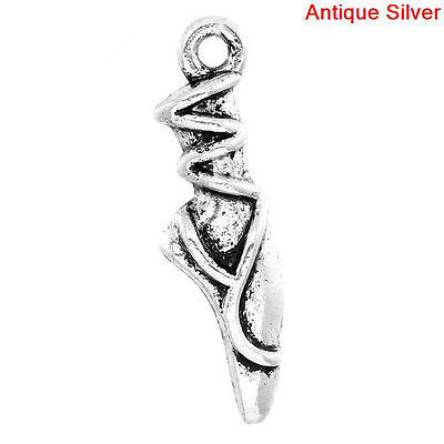 Ballet Dress or Tutu 15mm....C392 * Pack of 10 Antiqued Silver Plated Charms