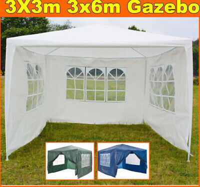 New 3x6m 3x3m Gazebo Marquee Outdoor Garden Folding Party Tent Canopy 4 Sides UK