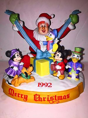 DISNEY PARKS EXCLUSIVE 1992 Christmas Figure Mickey & the Beanstalk statue