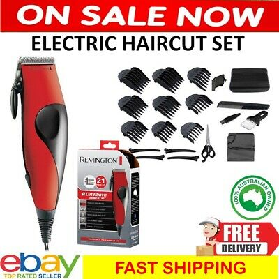 Mens Electric Hair Clippers Professional Haircut Boys Trimmer Grooming Kit Cut