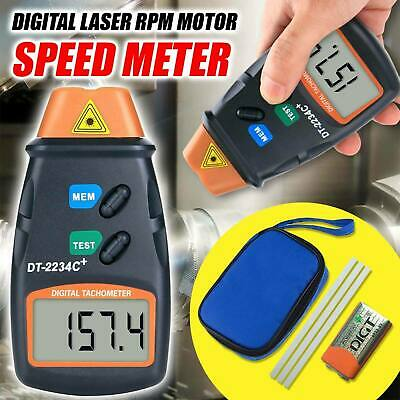 Handheld Digital Photo Laser Tachometer Non Contact Tach Tool RPM Tester New