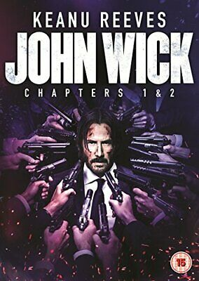 John Wick: Chapters 1 & 2 DVD + Digital D with  Keanu Reeves New (DVD  2017)
