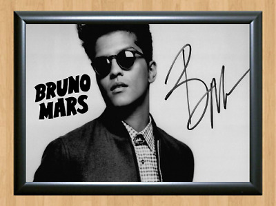Bruno Mars Earth To XXIVK Magic Signed Autographed A4 Poster Photo Memorabilia