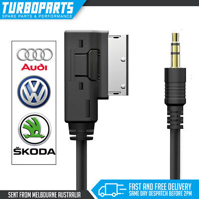 30cm Audi MMI AMI 3.5mm Male Aux Audio iPod iPhone Cable A4 A5 A6 Q5 Q7 A8 A3 TT