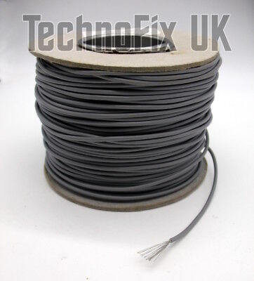 100m drum grey 24/0.2mm stranded flexible tinned copper project or antenna wire