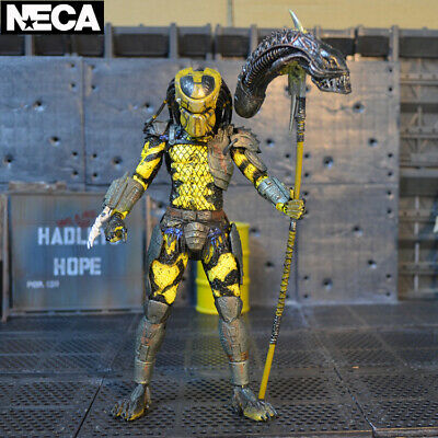 "1:12 NECA Wasp Predator Yellow Alien Hunter 7"" Action Figure Predators Movie"