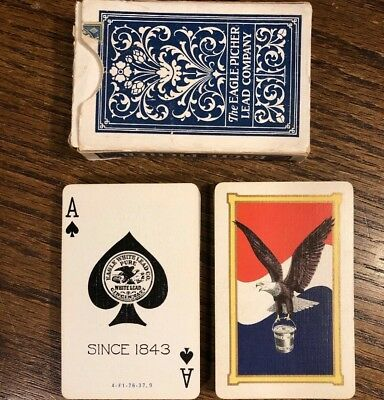 VINTAGE 1920'S DECO Russell Idle Hour Playing Cards Joker US